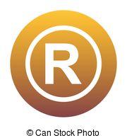 Symbol clipart registered trademark Grad Isolated registered Registered trademark