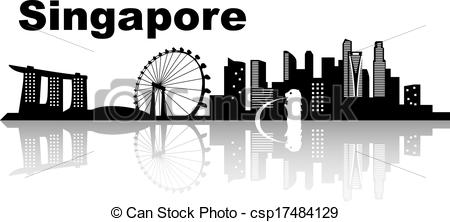 Singapore clipart Vector  of Singapore black
