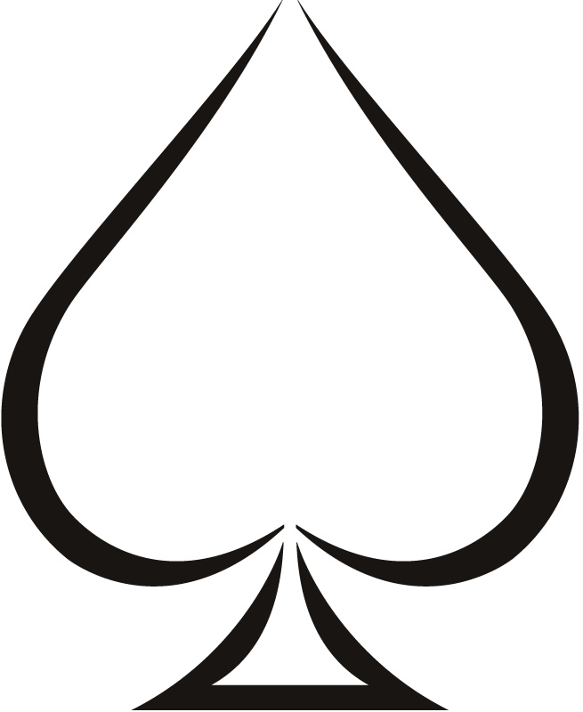 Symbol clipart spade Collection of Spades Clipart Making
