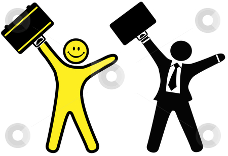 Business clipart happy person Tie business suit success in