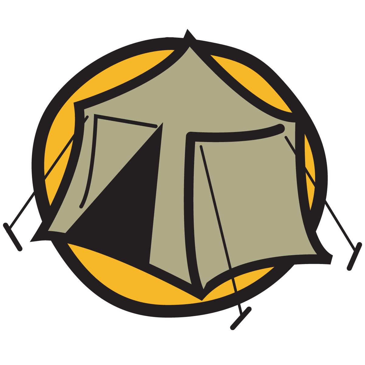 Camper clipart campfire Symbol The Tent Symbol Clipart