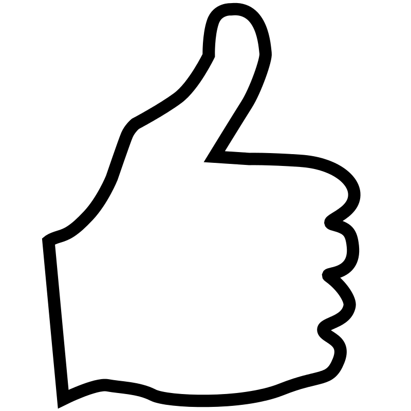 White clipart thumbs up Vector art clip  Symbol
