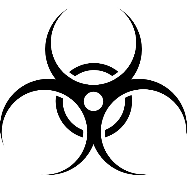 Biohazard clipart toxic waste Symbol to  get on