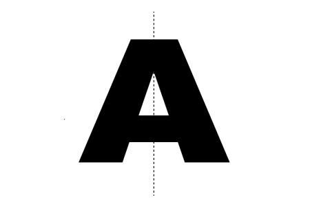 Symmetry clipart Letter A of I Letter