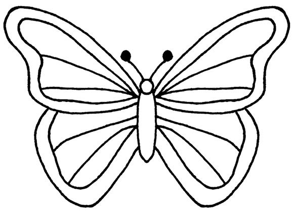 Butter clipart coloring 03 KAYNE W simple+butterfly+wings pictures
