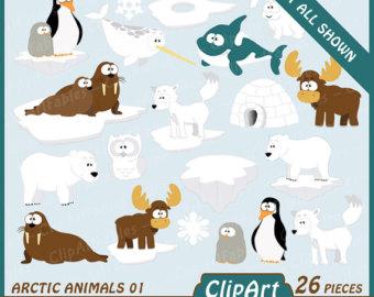 Arctic clipart adaptation Art North polar pole Etsy