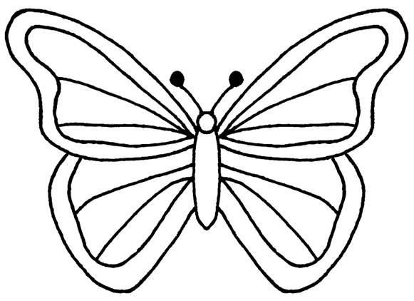 Monarch Butterfly clipart black and white #2