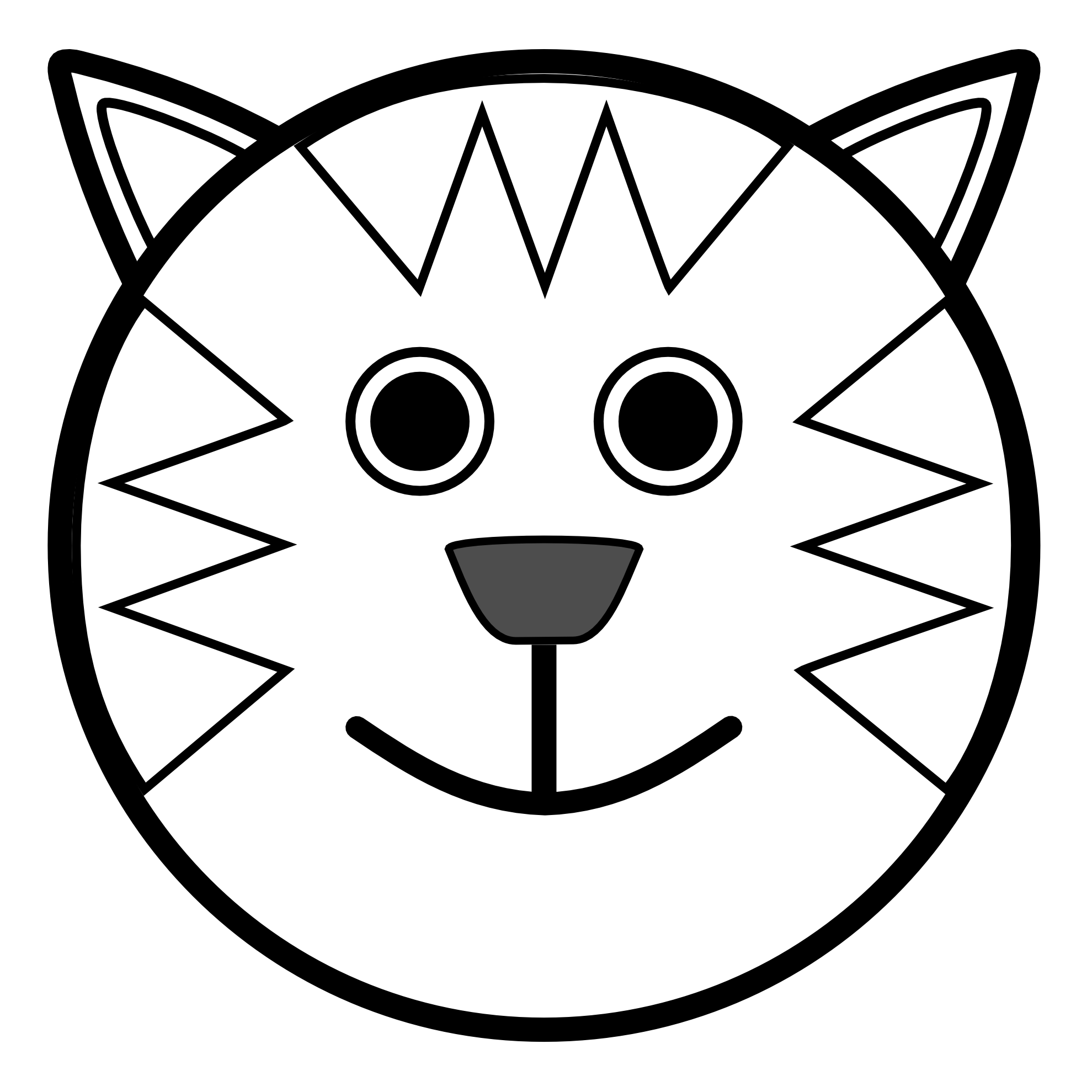 Symmetry clipart cartoon animal Of tesettur Odd throughout Drawings