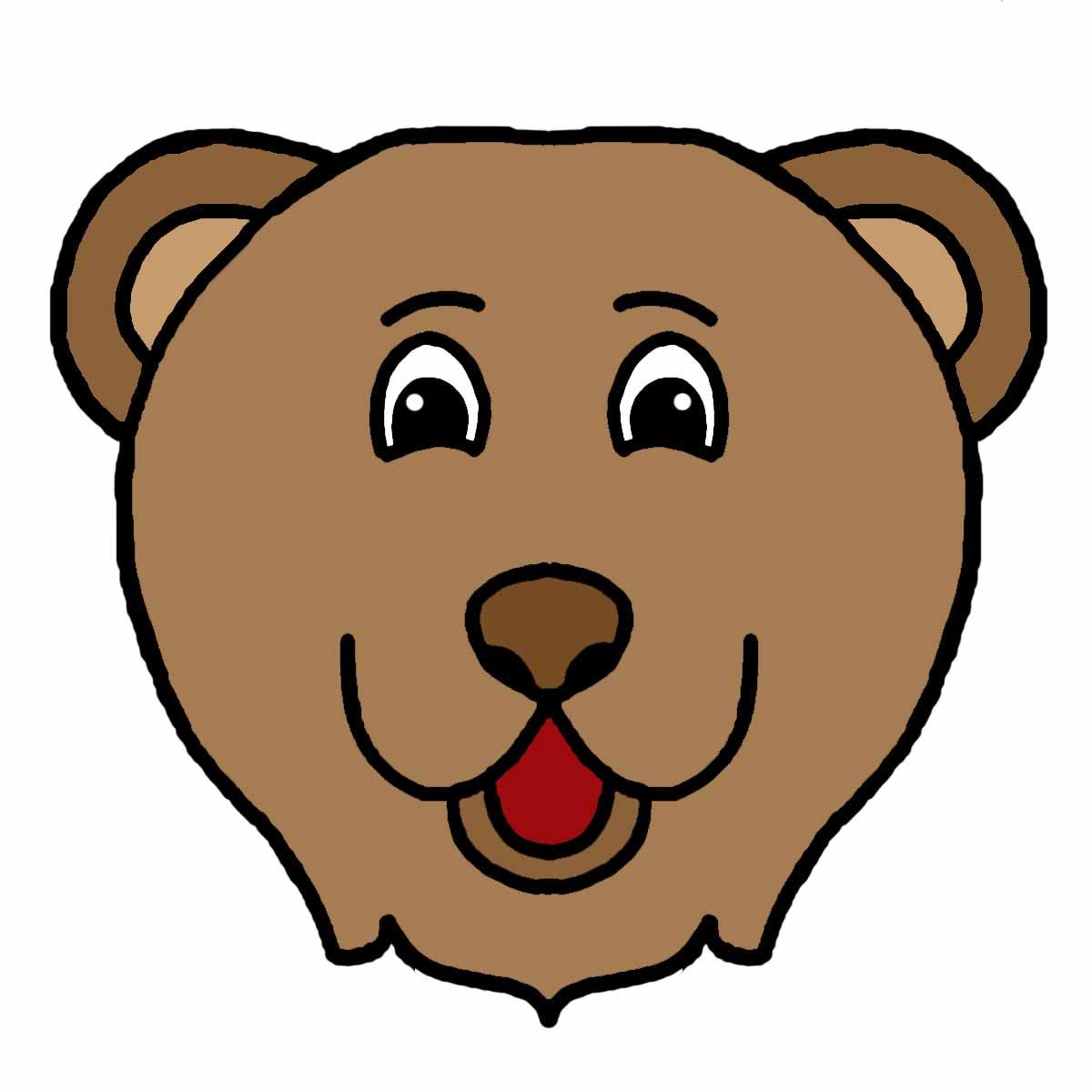 Symmetry clipart cartoon animal Frog Bear Cartoon Cartoon Faces: