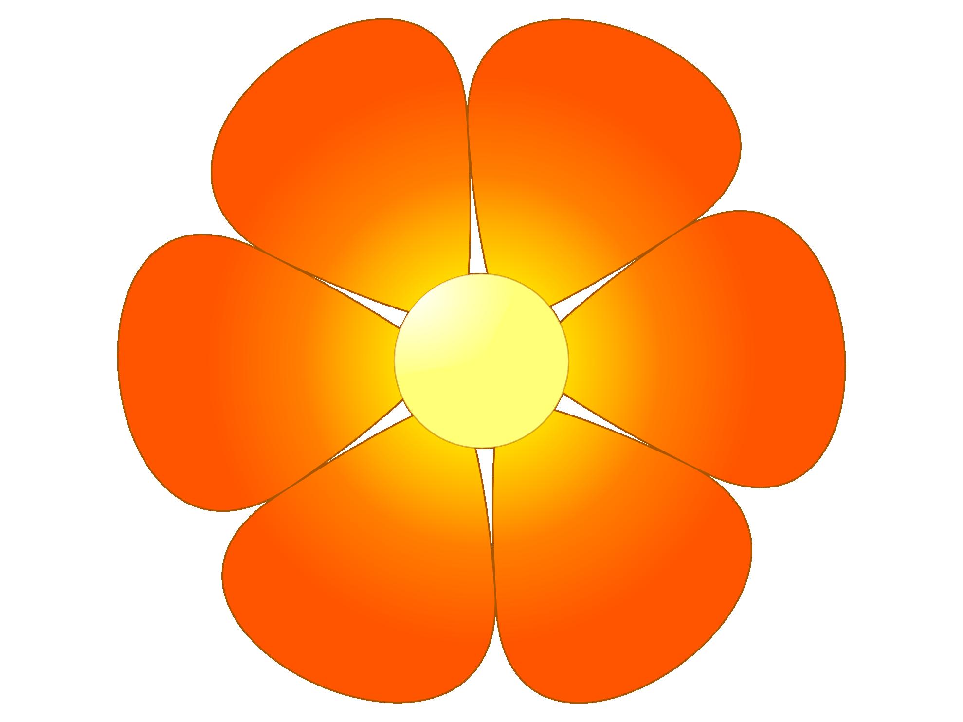 Orange Flower clipart transparent Images Clipart Clip Free Panda