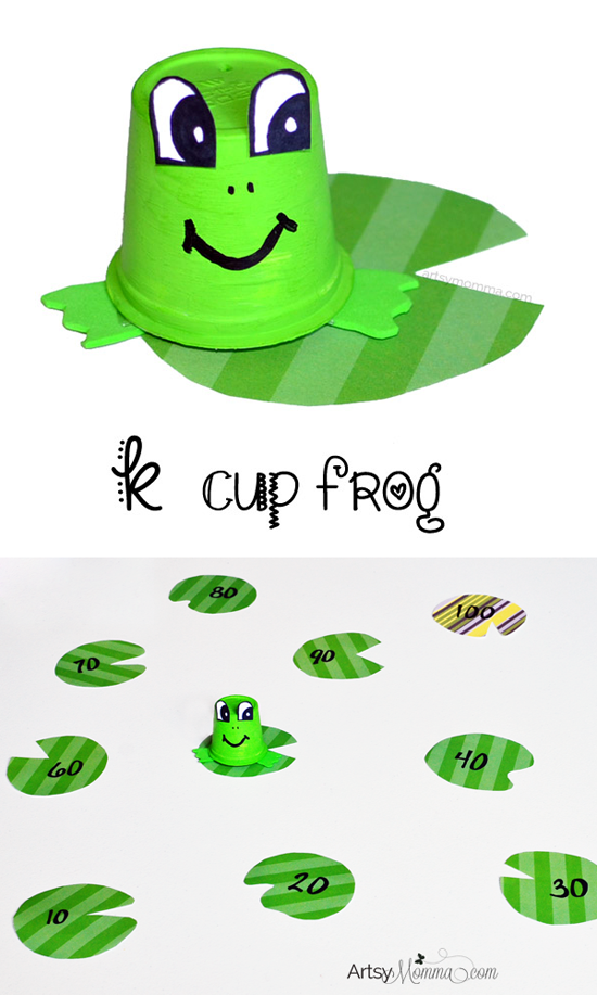 Symmetry clipart frog hopping Recycled Momma Cup Counting to