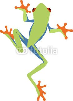 Red Eyed Tree Frog clipart drawn #2