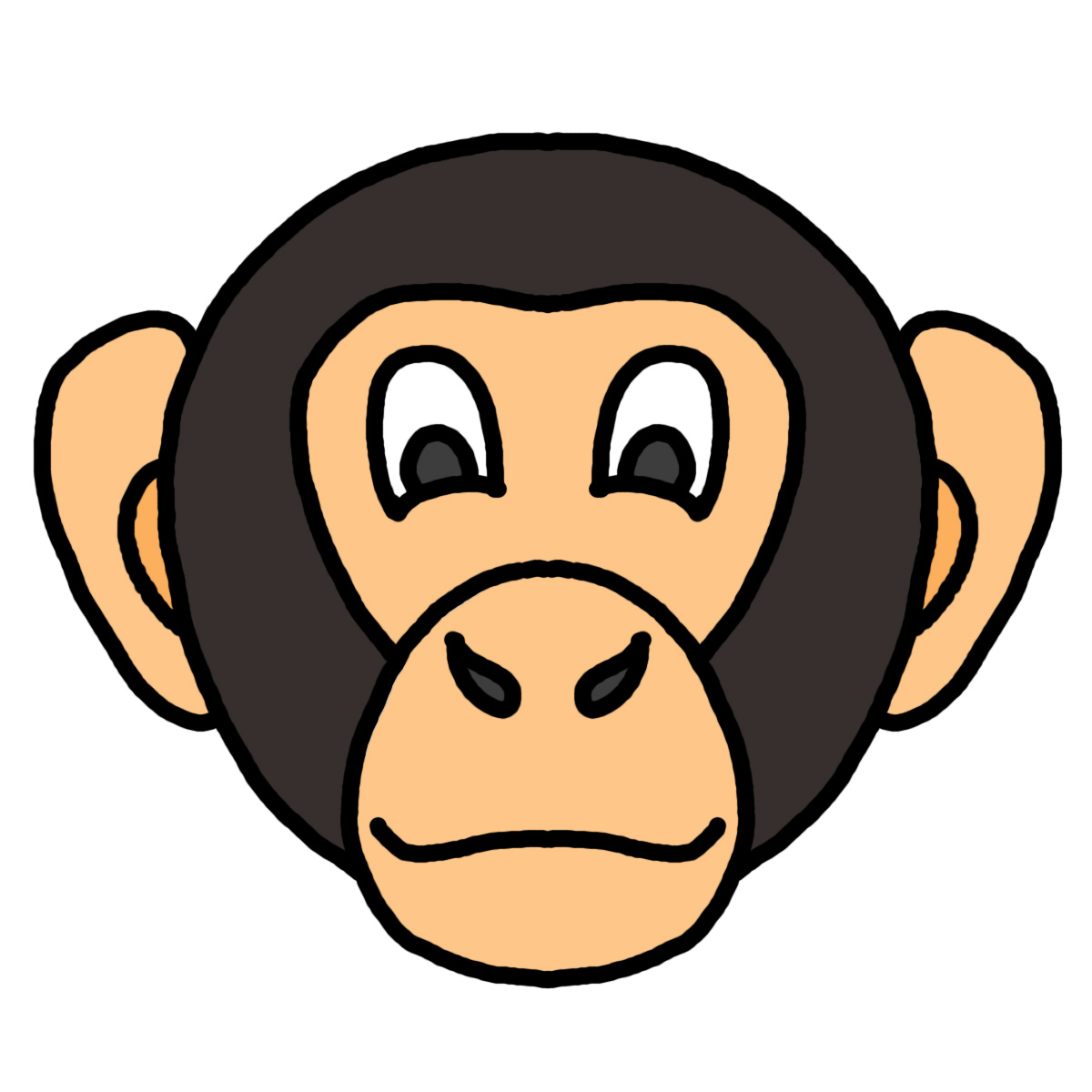 Symmetry clipart gorilla head On Animal Face Free arts