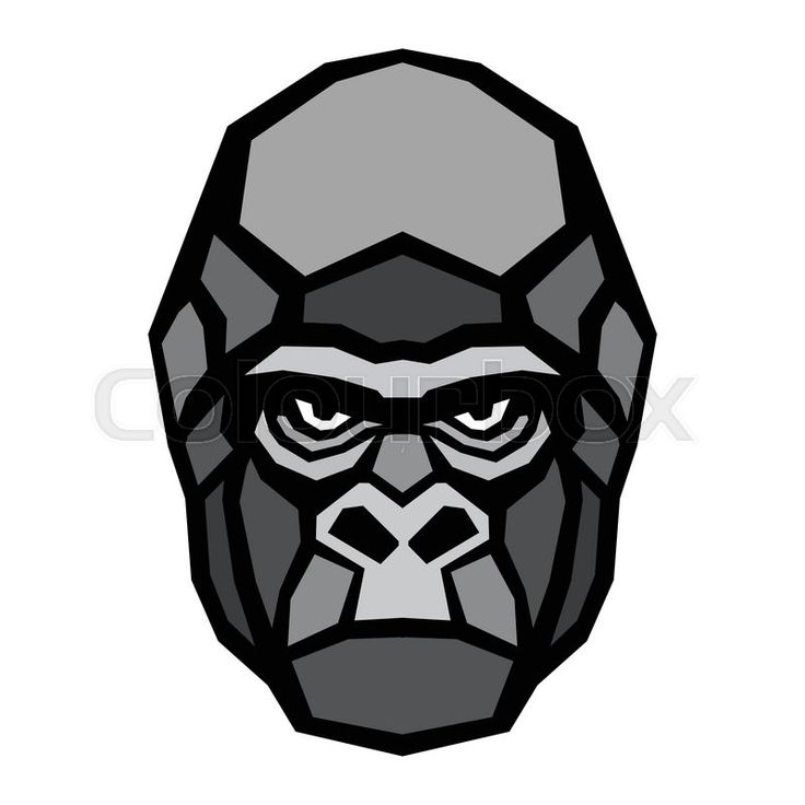 Symmetry clipart gorilla head Logos 18103047 vector jpg Pinterest