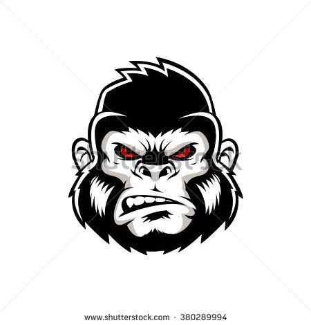 Symmetry clipart gorilla head Gorilla best Gorilla logo head