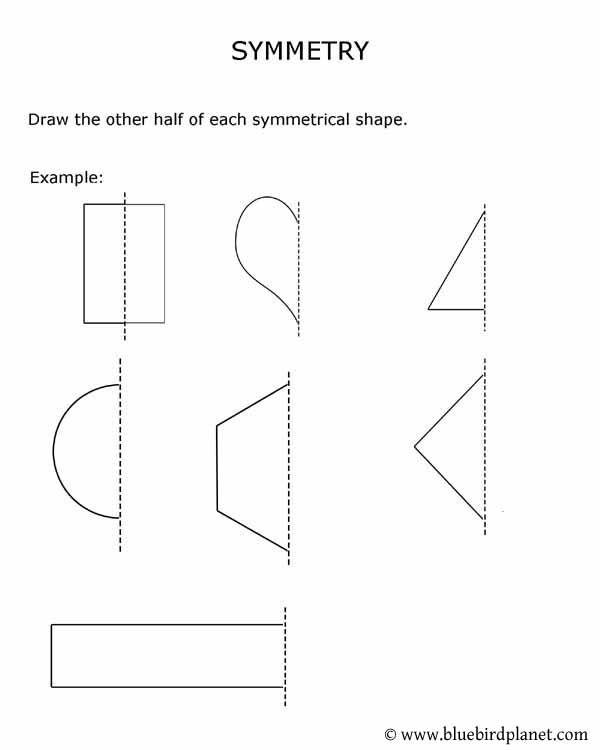 Symmetry clipart kindergarten 2nd 1st worksheets best worksheets