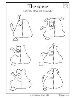 Symmetry clipart kindergarten 25+ The Worksheets on Symmetry
