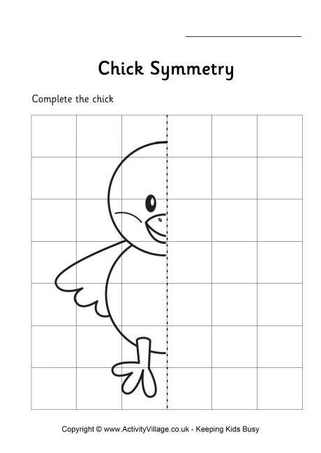 Symmetry clipart kindergarten On images Worksheet best Chick