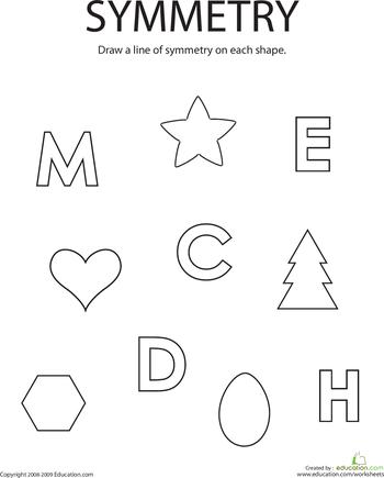 Symmetry clipart kindergarten Com Education of Symmetry Drawing