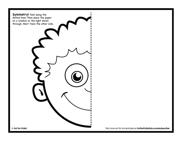 Symmetry clipart kindergarten Symmetry Pages Activities Coloring Art