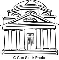Synagogue clipart cathedral Synagogue Outlined and 875 Synagogue