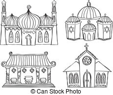 Synagogue clipart Synagogue Illustration Art and illustrations
