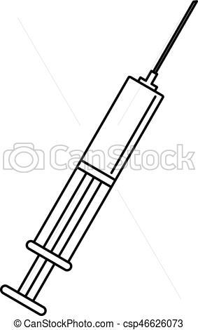 Syringe clipart outline Outline icon icon style Syringe
