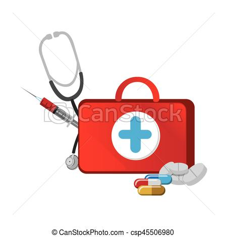 Treatment clipart syringe Stethoscope with suitcase suitcase and