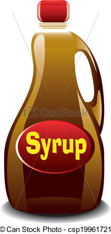 Syrup clipart Bottle of syrup of Illustration