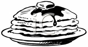Syrup clipart Art and Black with Pancakes