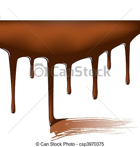 Syrup clipart Vector Vector temptation Chocolate csp3970375