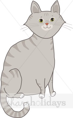 Tabby Cat clipart Clipart Gray Backgrounds Tabby Clipart