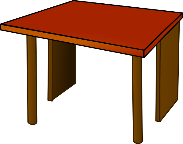 Furniture clipart wooden table Free Table Classroom Clipart Panda