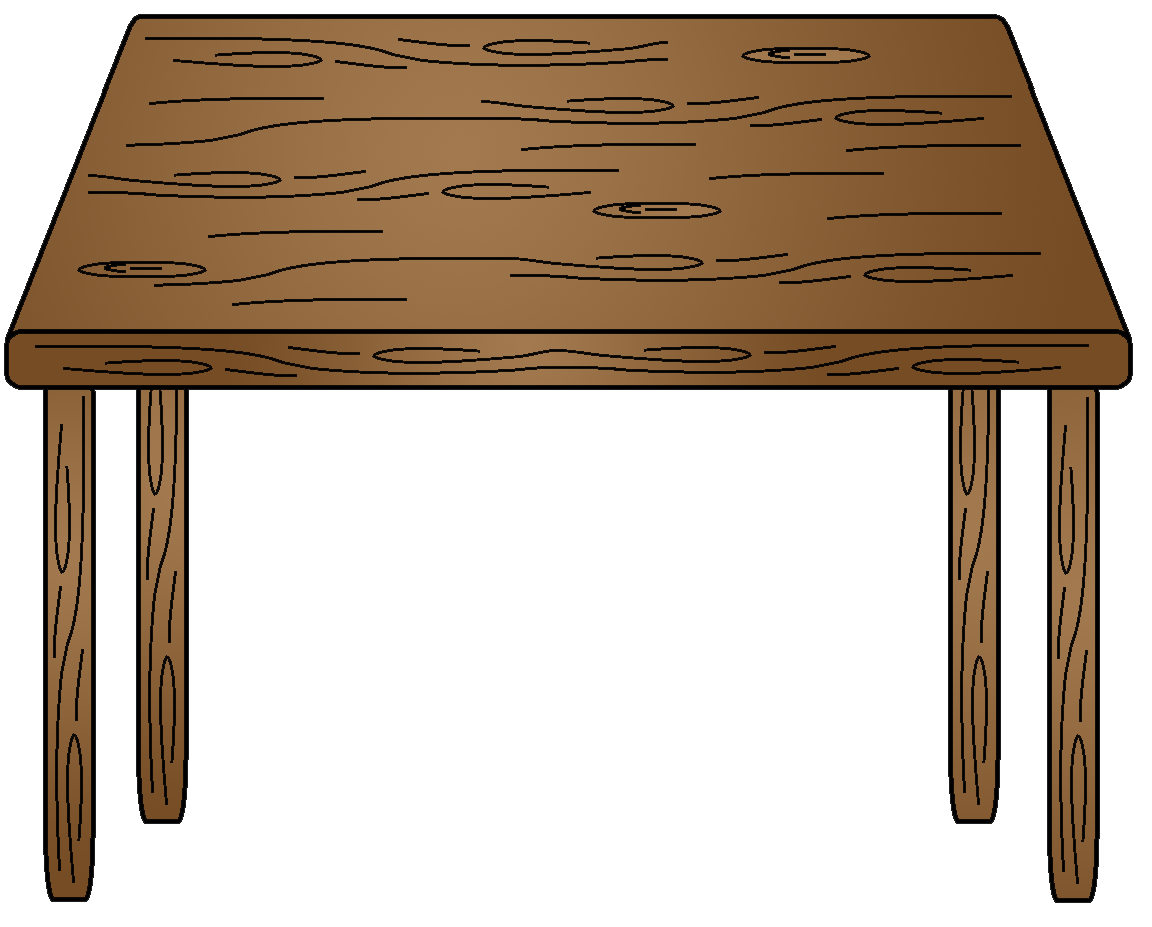Furniture clipart wooden table Panda Art Clip Table Images