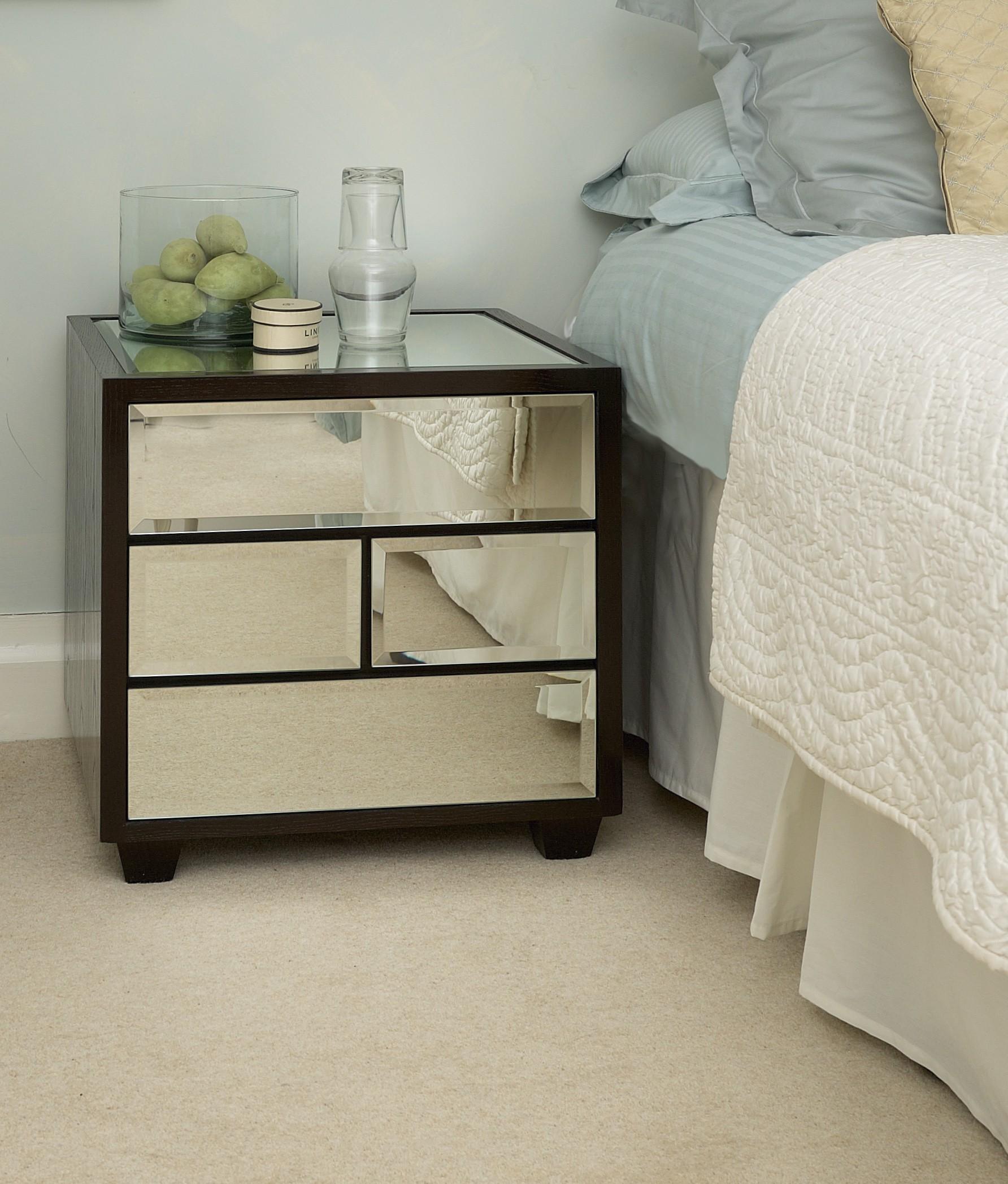 Carpet clipart bedside  Raya Bedroom Brown Glass
