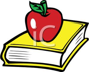 Bobook clipart apple Book Free Sitting on a