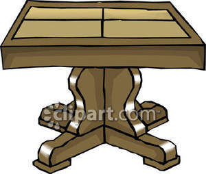 Larger clipart dinner table Art table clipart Table collapsible