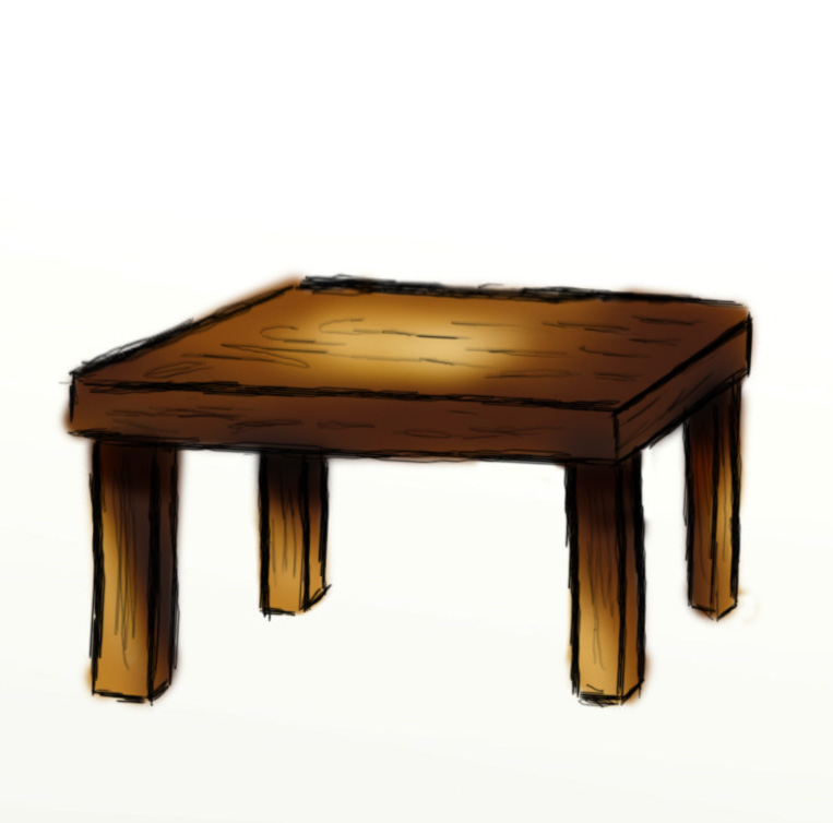 Desk clipart draw Objects Pictures Clip Of
