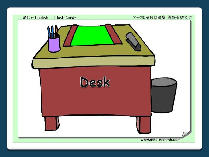 Desk clipart classroom objects Classroom Objects: Activities  PowerPoint
