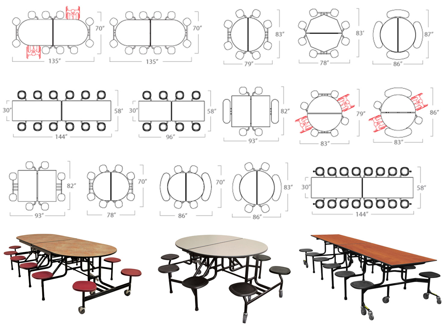 Bench clipart lunch table Benefits stools of Cafeteria with