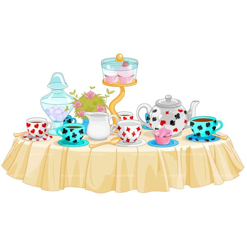 Alice In Wonderland clipart table Cliparts Party clipart Cliparts Party