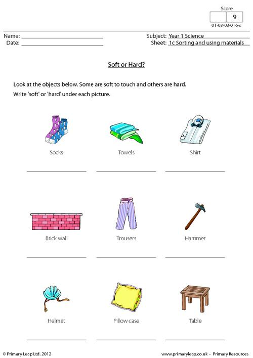 Wood clipart hard object Hard Worksheet or co PrimaryLeap