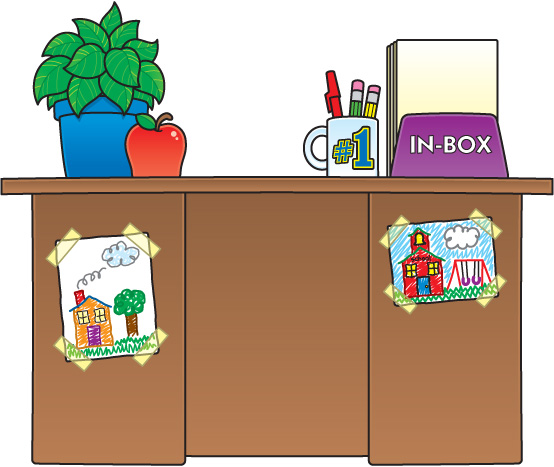 Desk clipart teacher room Table teacher Teacher Art Free