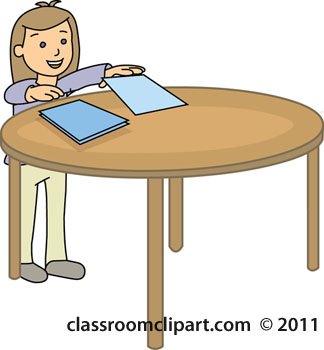 Desk clipart round Student Student Clip  Download