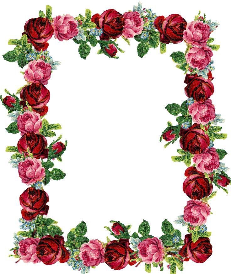 Desk clipart border Border frame FREE Pinterest rose