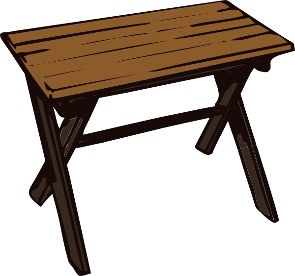 Wood clipart wood table Wooden Collapsible office Open Table