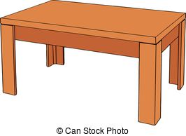 Wood clipart wood table Table background isolated on Vector