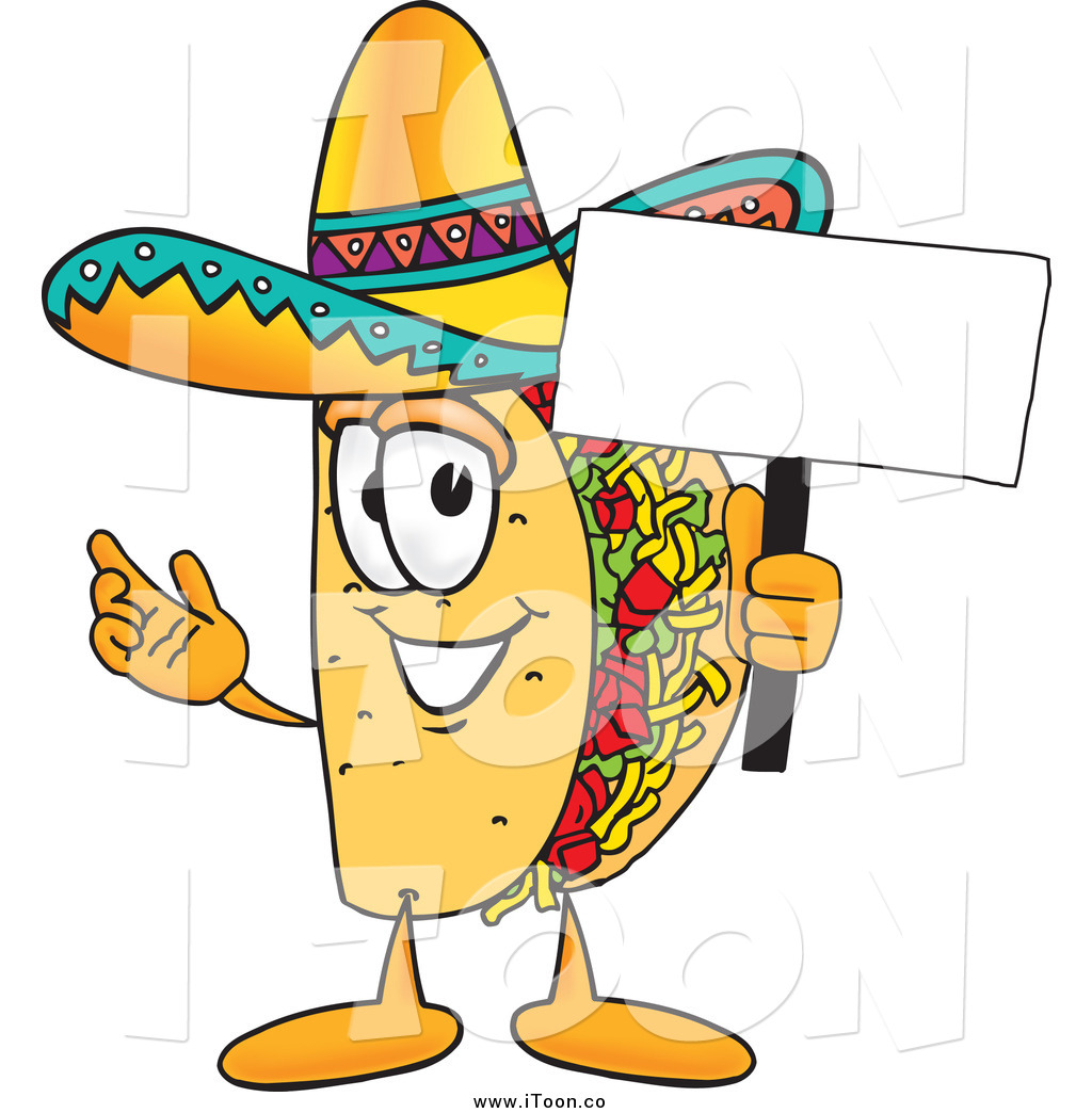 Taco clipart cartoon Royalty Free of by Holding