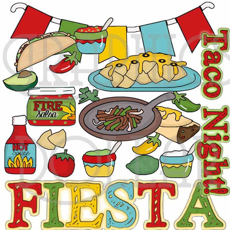Taco clipart fiesta Fiesta Taco Dollar Night Clip