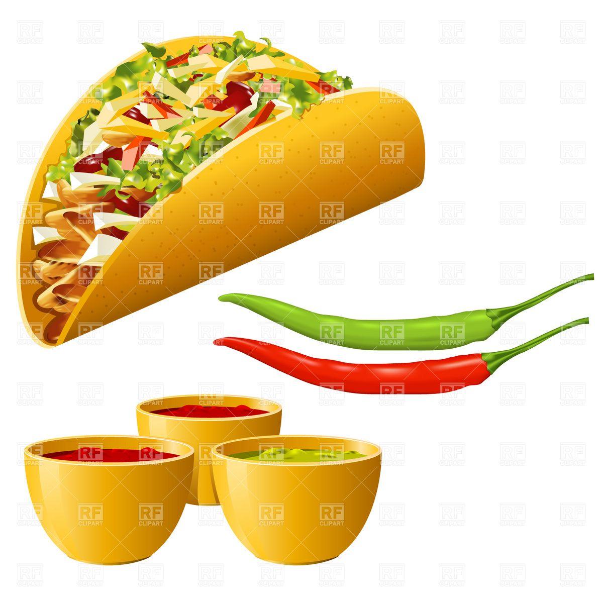 Taco clipart hispanic food Hot food download  royalty